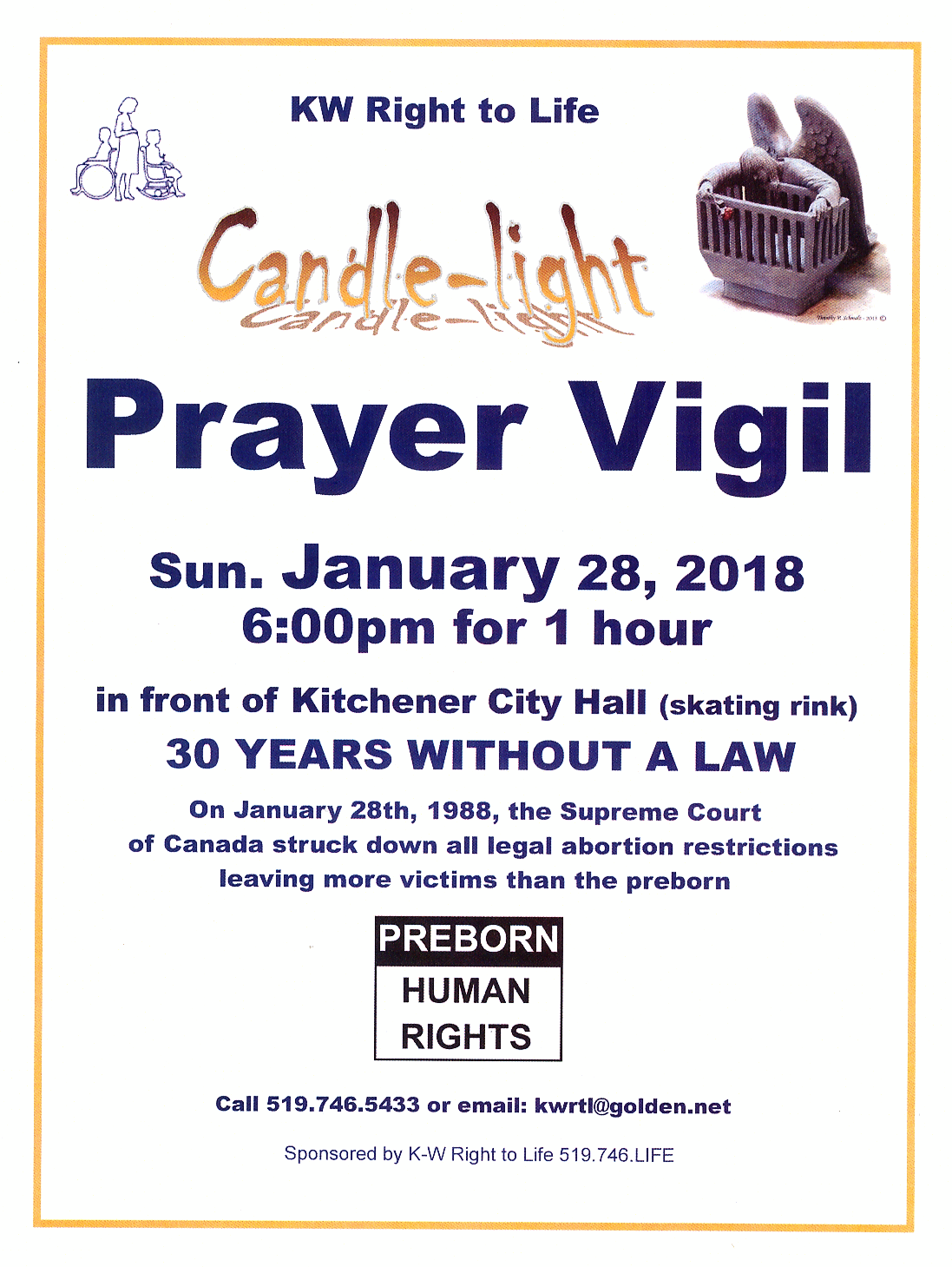 Candle-Light Prayer Vigil for Preborn Human Rights 2018
